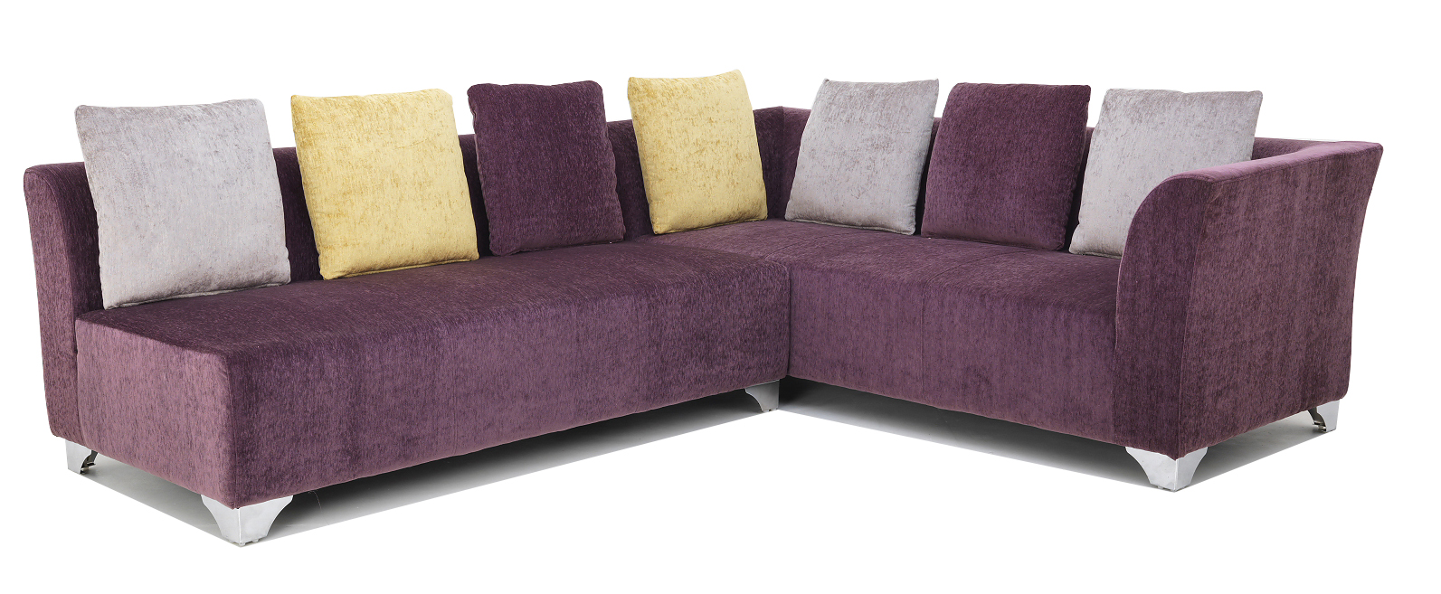 naples purple 3 seater sofa by homeland online modern furniture spacewood product. Black Bedroom Furniture Sets. Home Design Ideas